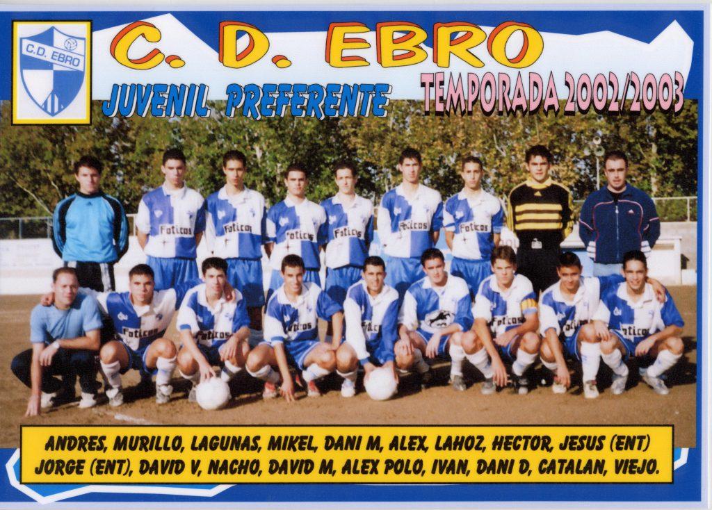 Plantilla Ebro Juvenil Preferente 02-03